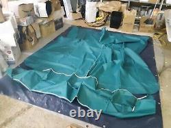Shademate Pontoon Bimini Top, 1-1/4 Frame, 10'L x 96-102 W, Teal 1814