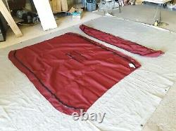 Shademate Sunbrella 3-Bow Bimini Top, 6'L x 46H, 79-84 Wide, Burgundy 1062