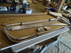 Shademate Sunbrella 4-Bow Bimini Top Frame, 8'L x 54H, 91-96 Wide, 1084