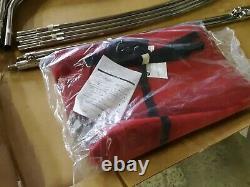 Shademate Sunbrella 4-Bow Steel Bimini Top, 8'L x 42H, 79-84 Wide, Red 1851