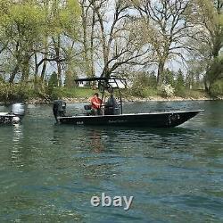 Snoop 510 Bimini Black T-top Fishing Boat Tower Centre Shade / Cover / Canopy