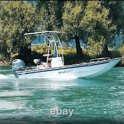 Snoop 510 Bimini White T-top Fishing Boat Tower Centre Shade / Cover / Canopy