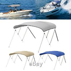 Standard BIMINI TOP 3 Bow Boat Cover 6ft with Rear Poles & Storage Boot Waterproof