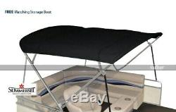 Summerset 4 Bow Bimini Replacement Top, Canvas Only 96'L x 97'-103'W Black