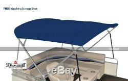 Summerset 4 Bow Bimini Replacement Top, Canvas Only 96'L x 97'-103'W Navy