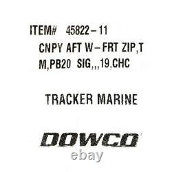 Sun Tracker Boat Bimini Top 320136 Party Barge 20 DLX 102 1/4 Inch