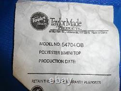 Taylor Made 3 Bow Bimini Top 54704ob Blue 100 X 77 1/2 Marine Boat