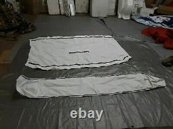 Taylor Made 3-Bow Polyester Bimini Top, 5'L x 32H, 79-84 Wide, White 1807