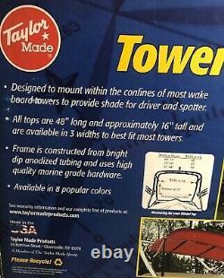 Taylor Made Wake Board Tower Bimini Top 62129-48L 16T 60Hunter Green W Frame