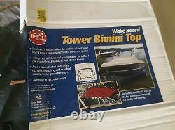 Taylor Made Wakeboard Tower Bimini Top, 48L x 16H x 75 78W, Blue 1829