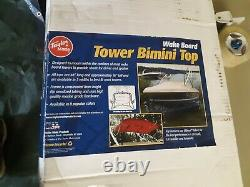 Taylor Made Wakeboard Tower Bimini Top, 48L x 16H x 81 84W, Black 1832