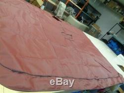 VEADA 4 BOW BURGUNDY BIMINI TOP COVER With BOOT 121 L X 104 W MARINE BOAT