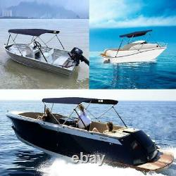 VINGLI 3-4 Bow Bimini Top Boat Cover Sun Shade Boat Canopy Waterproof Outdoor