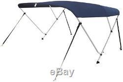 VINGLI 4 Bow Bimini Top Boat Cover Sun Shade Boat Canopy Waterproof 1 Inch 54