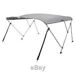 VIVOHOME 73-78 Inch Grey Boat Bimini Shade Canopy Top Cover Bikini 3 Bow Grey