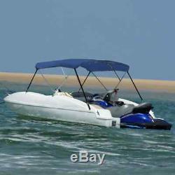 VidaXL 3 Bow Bimini Top Sturdy Weather Resistant Blue 6'x6.4'x4.6' Boat Cover