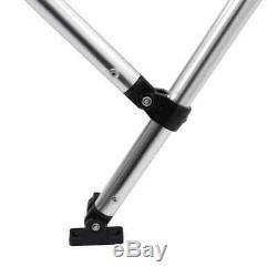 VidaXL 3 Bow Bimini Top Sturdy Weather Resistant White 6'x5.9'x4.6' Boat Cover