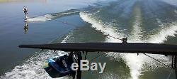 Wakeboard Tower Bimini Top BLACK Big Air Super Shadow Fits 1.9 to 2.5 tubing