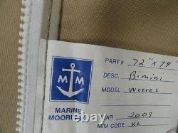 Weeres 2009 Tan Bimini Top 75 X 81 & Boot 92 X 12 1/2 Marine Boat