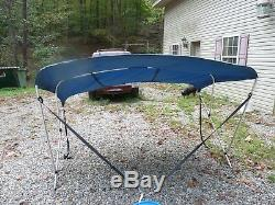 Westland Bimini Boat Top Cover 5487 Blue 85- 90 Wide 54 Tall 72 Long 3 Bow